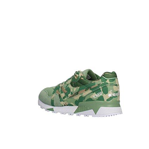 Diadora Unisex-Erwachsene N9000 Camo Sneaker Low Hals, Green Camo, 43 EU Vert