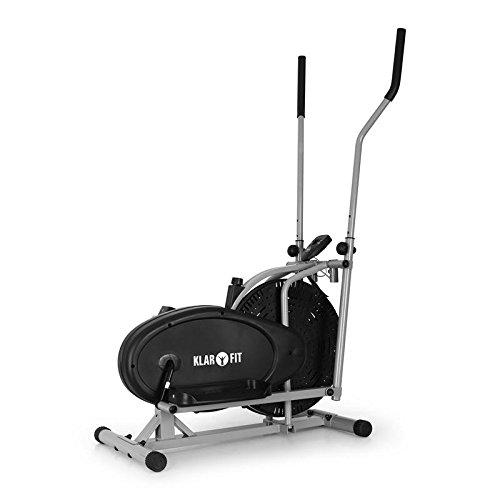 Klarfit ORBIFIT BASIC Crosstrainer Heimtrainer Ellipsentrainer (stufenlos verstellbarer Widerstand, Trainingscomputer mit Zeit, Geschwindigkeit, Kalorienverbrauch und Distanz) schwarz-silber
