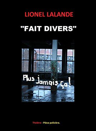 """Read """"FAIT DIVERS"""" pdf ebook"""