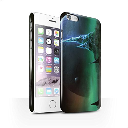 Offiziell Chris Cold Hülle / Glanz Snap-On Case für Apple iPhone 6S / Pack 12pcs Muster / Fremden Welt Kosmos Kollektion Saphir Spitzen
