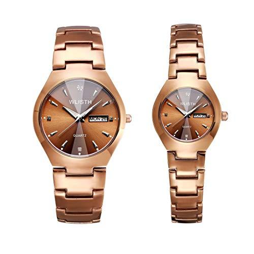 DXY Paar Uhren/Leuchtende Uhren/Wasserdichte Mode Student Uhren/Männer und Frauen Quarzuhr Kalender, Jubiläumsgeschenk
