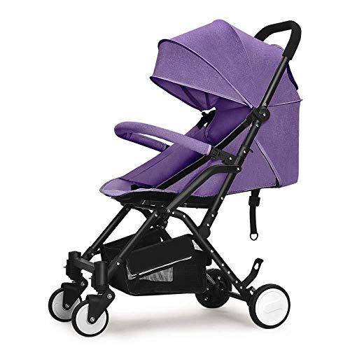 HZC Kinderwagen Lightweight Reclining Folding Kinderwagen, Kinderwagen for Neugeborene und Kleinkinder (Farbe : Lila)
