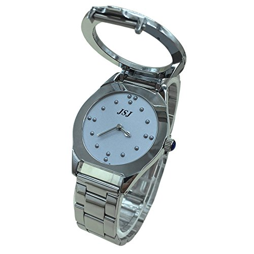 Reloj De Pulsera Braille para Invidentes o Personas Mayores Gris Dial para Hombre