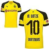 Puma BVB Borussia Dortmund Home Trikot mit Bundesliga Logo 2018 2019 Herren Mario Götze 10 Gr XXL