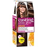 L'Oreal Paris Casting Crème Gloss Small Pack, 400 Dark Brown, 45g