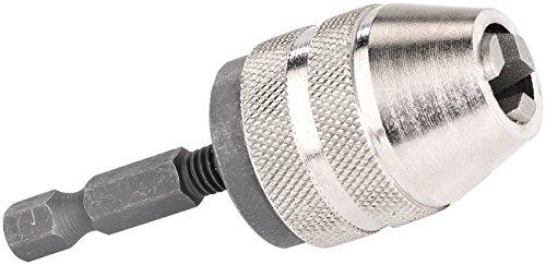 AGT Minibohrfutter: Schnellspann-Bohrfutter für Akku-Schrauber, Spannweite 0,5-6,5 mm (Bohrfutter für Akkuschrauber)