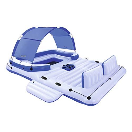 Ocean Paradise Lounge Schwimmende Wasserreihe Schwimmendes Bett Schwimmende Lounge Aufblasbare Lounge-Sessel Schwimmendes Boot Schwimmen Lager 540 Kg ( Color : Blue , Size : 3.89*2.74m ) -