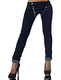 L368 Damen Jeans Hose Boyfriend Damenjeans Harem Baggy Chino Haremshose f41e84e3a6