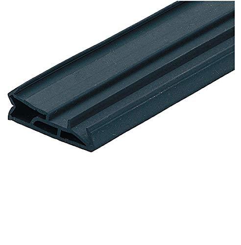Gedotec Tür-Dichtung für Innentür Zugluft-Stopper für Zimmertür Windschutz zum Dichten - SV 185 | TPE schwarz | 25 M | 1 Stück