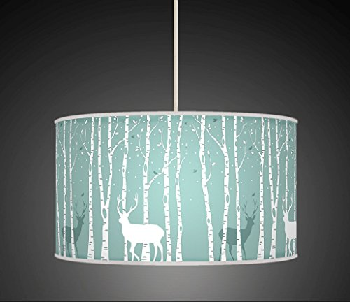 stag-deer-trees-handmade-lampshade-printed-fabric-pendant-light-light-blue-colour-678