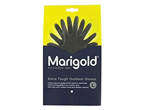 Marigold FH851029 Extra Tough Outdoor Gloves, 1 Pair, Size 9/Large, Black