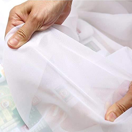 PENVEAT Pure White Transparant Solide Sheer Tulles Neue Hauptdekoration High Thread Moderne Single Panel Für Schlafzimmer Cortina WP184D, Weiß, 1,3 * 1,5, Pull Plissee Tape