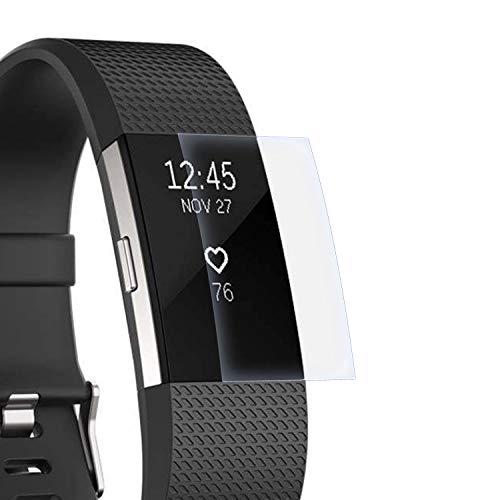 zanasta Schutzfolie kompatibel mit Fitbit Charge 2 Displayschutzfolie Nano Schutz Folie | Volle Abdeckung, Klar Transparent