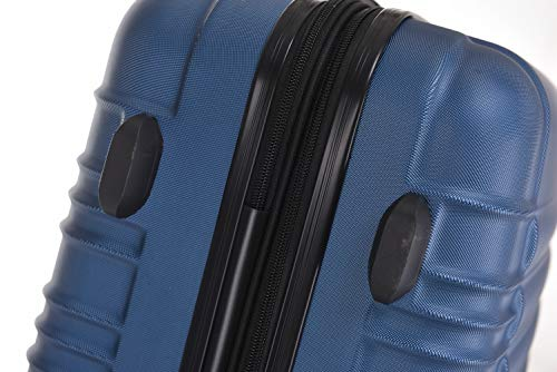 BEIBYE 2088 Zwillingsrollen Reisekoffer Koffer Trolleys Hartschale M-L-XL-Set in 13 Farben (Blau, M) - 6