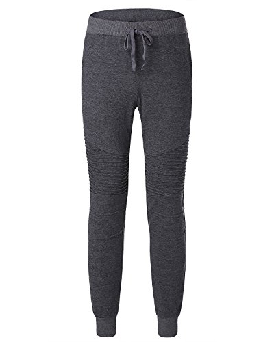 MODCHOK UOMO Pantaloni Lunghi Jogging Chino Jogger Tuta Sportiva Pantaloni di Sport Grigio scuro