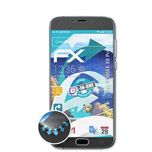 atFolix Schutzfolie passend für DOOGEE X9 Pro Folie, ultraklare & Flexible FX Bildschirmschutzfolie (3X)
