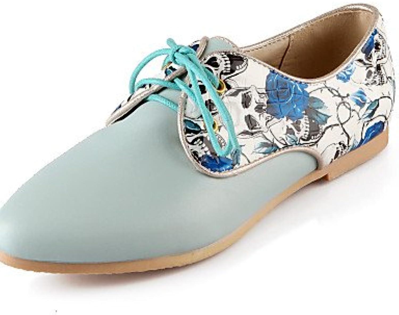 ZQ Zapatos de mujer - Tacón Plano - Comfort / Puntiagudos - Oxfords - Exterior / Oficina y Trabajo / Vestido /...