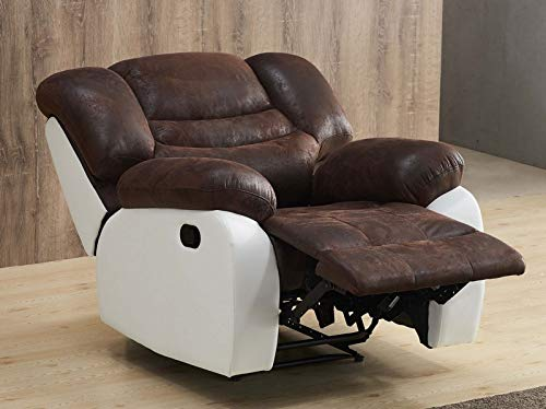 Mapo Möbel Microfaser-Relax-Sofa-Mikrofaser-Relaxsessel Fernseh-Sessel 5116-1-PU