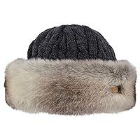 Barts Fur Cable Bandhat Beret, Grey (Rabbit 0009), One (Size: UNI)