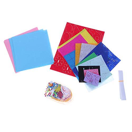 BESPORTBLE Handgemachte Stoff Buch Machen Werkzeug Kinder DIY Tuch Buch Machen Materialien Universal Baby Boy Girl hausgemachte Bilderbuch Materialien (himmelblau)