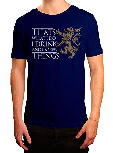 Got #7 Premium T-Shirt | Das Lied von Eis und Feuer | TV-Serie | I Drink and I Know Things | Herren | Shirt Blau (Royalblue L190)