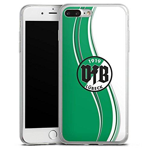 Apple iPhone 8 Plus Slim Case Silikon Hülle Schutzhülle VfB Lübeck Fanartikel Fußball Silikon Slim Case transparent