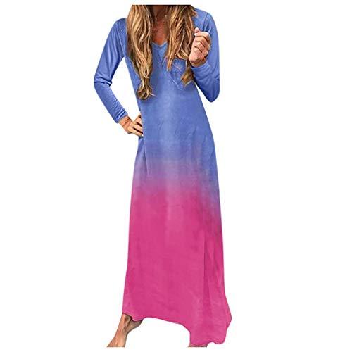Led Minnie Kostüm Maus - Zottom Kleid mit rundem Ausschnitt und Farbverlauf, Mode Frauen Winter Casual Rundhals Fledermaus Ärmel Kleid Print Holiday Dress