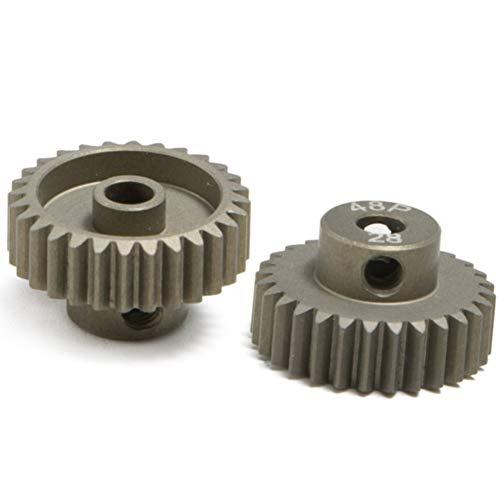 28t Getriebe (LNIMIKIY Motorritzel, Modell hartbeschichtet, Ersatz-Schaft Hobby Drift Zähne 18T-30T Aluminiumlegierung RC Auto Loch langlebig, Wie abgebildet, 28t)