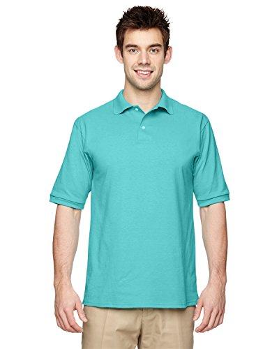 Jerzees 5,6oz. 50/50der Männer Jersey Polo mit Spotshield, Herren, Blau (Azul Scuba) (Jersey Polo 50 Shirt)