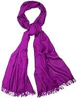 Ladies Soft Plain Viscose Pashmina Scarf Shawl Wrap Stole Purple