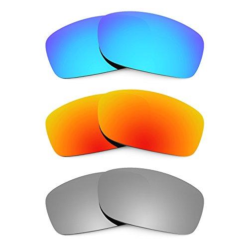 Revant Ersatzlinsen für Oakley Fives Squared Polarisiert 3 Paar Kombipack K014