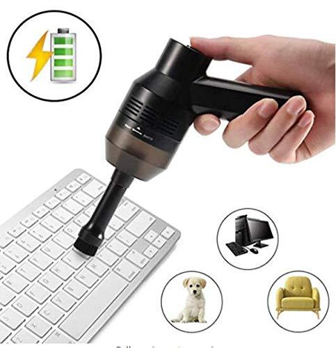 Keyboard Cleaner, Keyboard Vacuum, Wiederaufladbarer Mini Wireless USB-Reiniger zum Reinigen von Staub, Haaren, Computertastaturen, Autos, Sofas, Schreibtischen und Tierhäusern usw. (schwarz) Usb Mini Vacuum