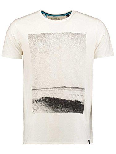 Herren T-Shirt O'Neill Graphic Hyperdry T-Shirt powder white