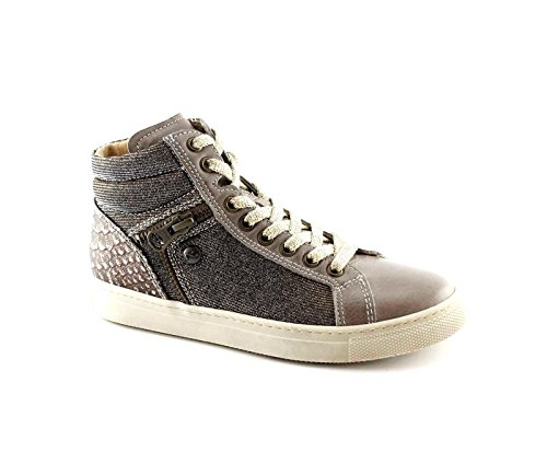 Nero Giardini Black Jardins Junior 31890 Taupe Fille d'or Espadrille de Chaussures Mi Zip