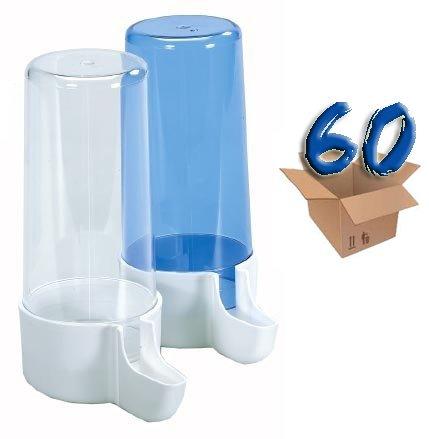 Stück 60Vogeltränke Trinknapf aus ML.200Blau oder Transparent für Vögel, Kanarienvögel, Papageien, festlegen der Farbe bei Bestellung