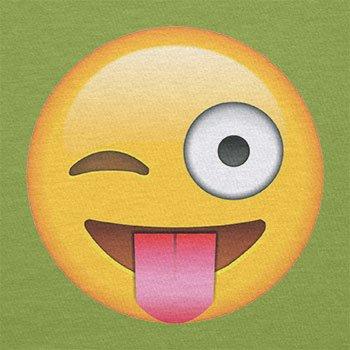 Texlab–Tongue Out Emoji–sacchetto di stoffa Verde chiaro
