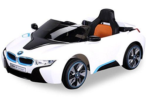 Preisvergleich Produktbild Elektroauto BMW I8 Kinderauto Kinderfahrzeug Spielzeug Elektrofahrzeug 2xMotoren/mp3/Musik/Fernbedienung/Motorgeräusch (weiß)