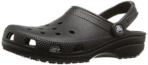 Crocs Classic, Unisex-Erwachsene Clogs, Schwarz (Black 001), 42/43 EU ( US: M9/W11)