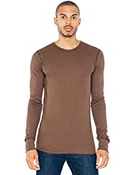 American Apparel Baby Thermal Long Sleeve T-Shirt - Brown / S