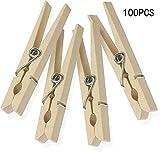 penglai Confezione da 100 Mollette in Legno-Mollette per Bucato Avanderia Arte Artigianato Becorazione 2,8 x 0,5 x 0,5 Pollici