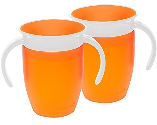 Munchkin Miracle 360 Trainer Cup, Orange, 7 Ounce, 2 Count by Munchkin