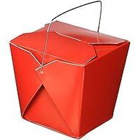Oasis Netzteil 50Stück Chinese Take Out Boxen für Party Favor und Lebensmittel, die Sie, 887, rot