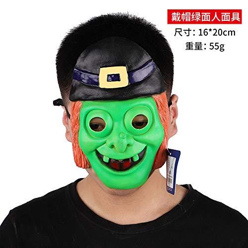 Alte Männer Kostüm Ägyptische - DY Halloween Maske Horror Kostüm Tanz Dämon Gas Maske Zombie Untote Latex Kopf Set Party Kultur P0300701415 Cap Grüner Mann (70-2-09)