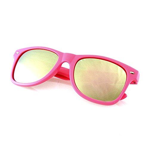 Emblem Eyewear - Revo Flash Color Espejo Reflexivo Lentes Neon Wayfarer Gafas De Sol (Rosa)