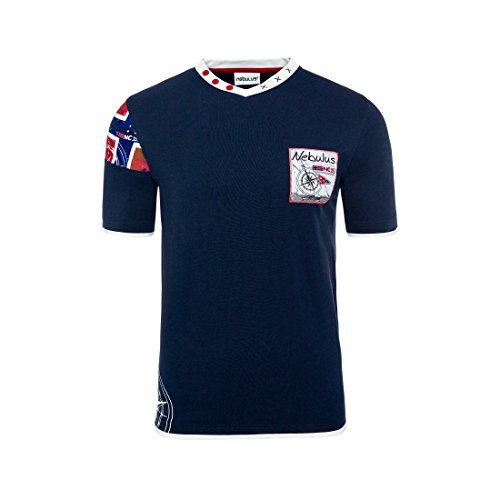 T184 - NEBULUS T-Shirt PATAGONIA, Scollo a V, Polo-maglietta - Uomo, blu marino, XXXL