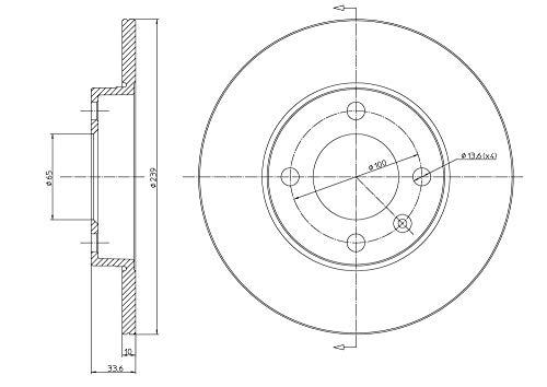 metelligroup 23-0371 - Disque de Frein