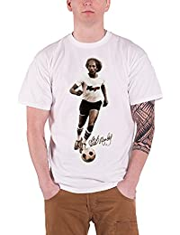 Bob Marley T Shirt Bobby Sepia Football Picture Logo offiziell Herren Nue