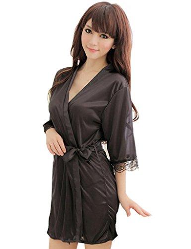 Legou - Chemise de nuit - Femme Taille Unique Noir - Noir