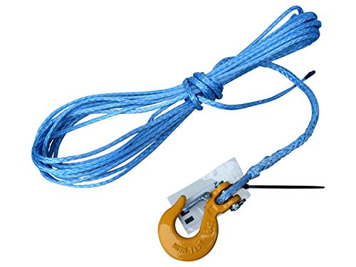 Dyneema Synthetik Seil 5mm 10m Seilwinde ATV Quad Kunststoff Offroad mit Haken -