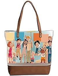 Circle Pattern Designe Tote Bag